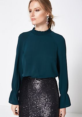 Long sleeve crêpe blouse with fine details from comma
