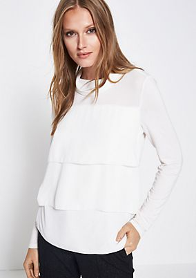 Long sleeve top in a sophisticated fabric blend from comma