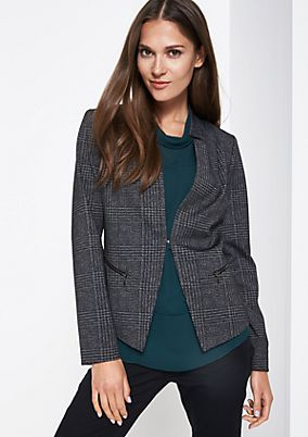 Elegant blazer with a decorative all-over pattern from comma