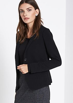 Blazer with a decorative minimal pattern from comma