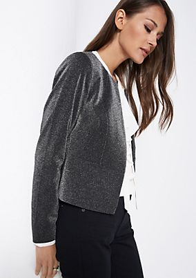 Extravagant blazer with a glamorous sparkle from comma
