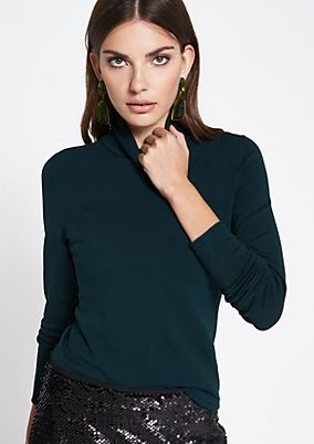 Polo neck jumper with pretty details from comma