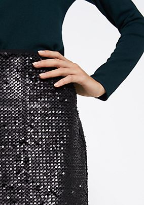 Extravagant skirt with shimmering sequins from comma