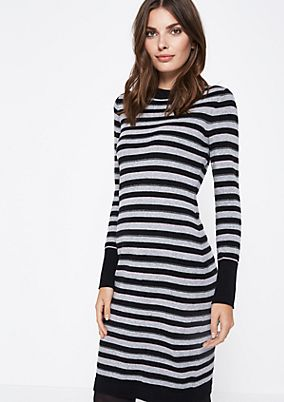 Casual dress with sporty stripes from comma