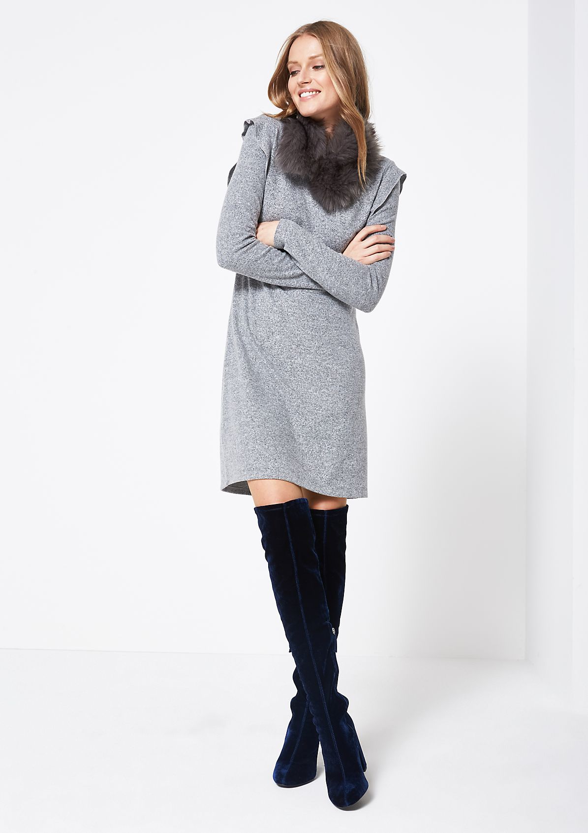 Soft flannel dress with flounces from comma