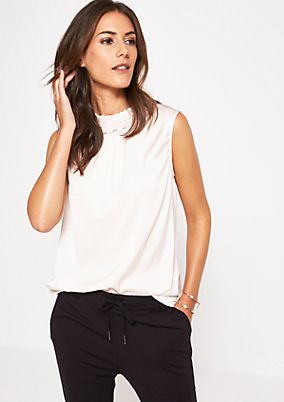 Shiny satin top with decorative details from comma