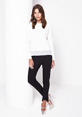 Textured long sleeve top with decorative ruffles from comma