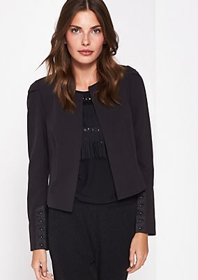 Short blazer with fine details from comma