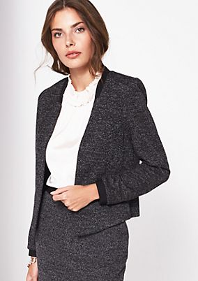 Short blazer in a salt & pepper look from comma