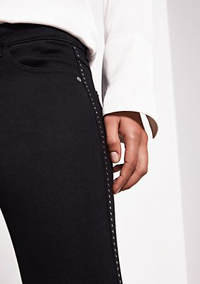 Black denim jeans with stud decoration from comma