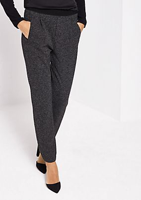 Business trousers in a salt & pepper look from comma