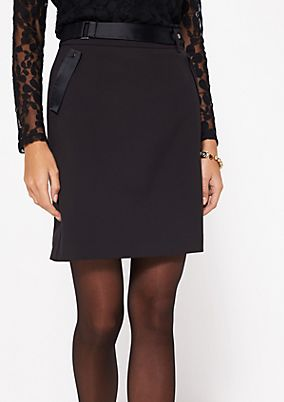 Business mini skirt with decorative details from comma