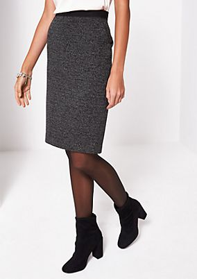 Business skirt in a classic salt & pepper look from comma