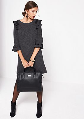 Elegant dress in a salt & pepper look from comma