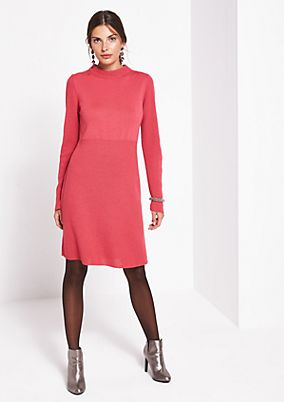 Soft knit dress in a mix of patterns from comma