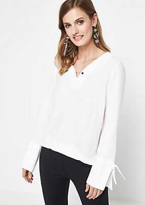 Crêpe blouse with chain embellishment from comma