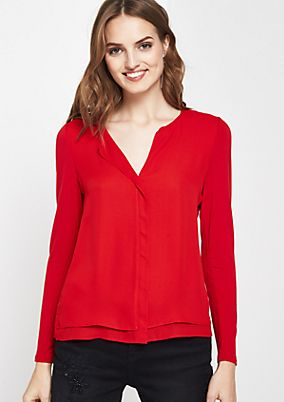 Long sleeve top in a smart fabric mix from comma