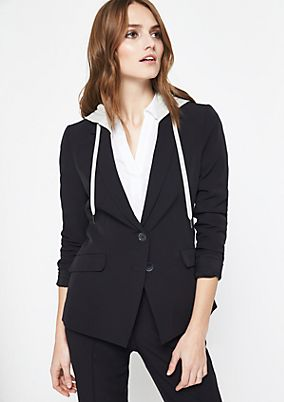Blazer with a zip-off hood from comma