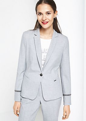 Eleganter Businessblazer mit Glitzerverzierungen