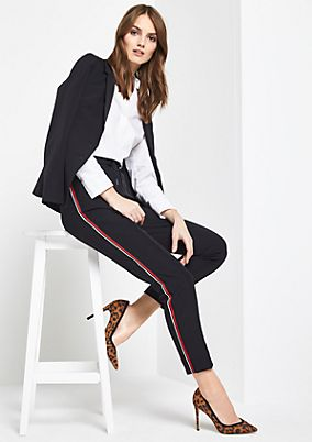 Casual trousers with decorative stripes from comma