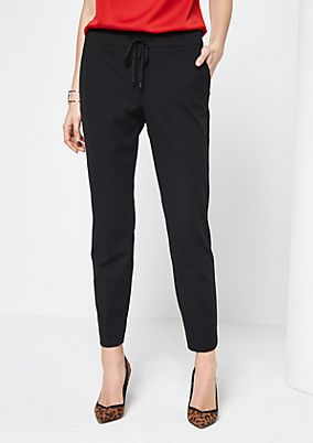Elegant lounge trousers with ties from comma