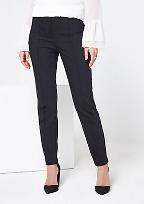 Elegant business trousers with decorative dividing seams from comma