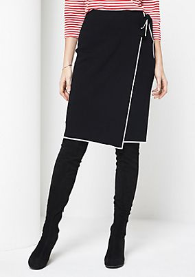 Knit skirt with a belt element from comma