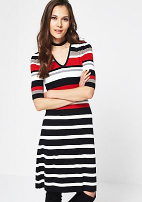 Casual dress with a stripe pattern from comma