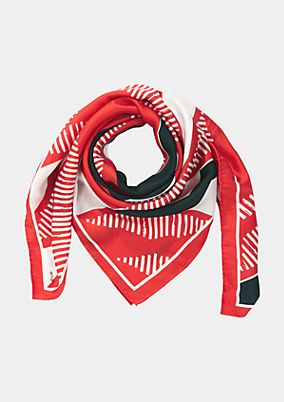 Scarf with an abstract pattern from comma