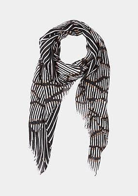 Zarter Schal mit dekorativem Alloverprint