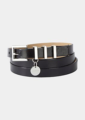 Thin belt in genuine leather from comma