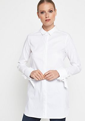 Elegant business blouse with sophisticated details from comma