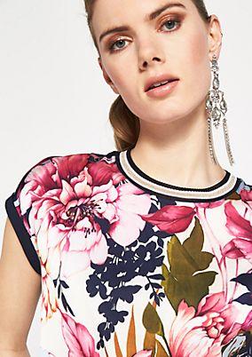 Kurzarmshirt mit dekorativem Frontprint