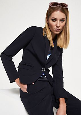 Elegant business blazer with decorative frills from comma