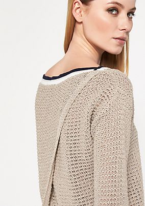 Knitted jumper with interwoven glitter yarn from comma