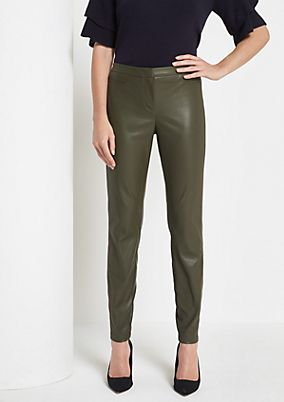 Extravagant trousers in faux leather from comma