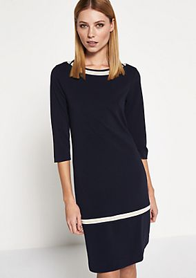 Soft knitted dress with 1/2-length sleeves from comma