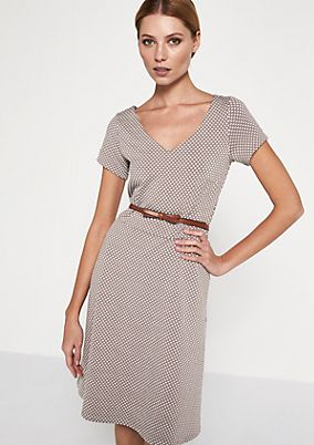 Casual dress with polka dots from comma