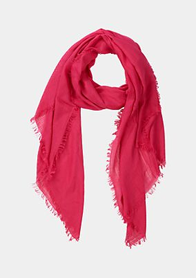 Casual knit scarf with short fringing from comma