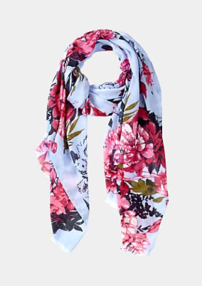 Delicate scarf with a decorative floral pattern from comma