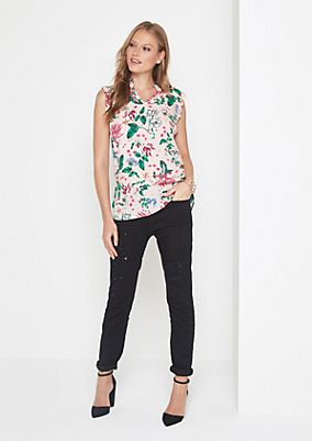 Blouse top with a brightly coloured all-over print from comma