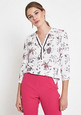 3/4-Arm Bluse mit aufwendig gestaltetem Alloverprint