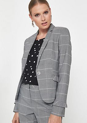Glencheck business blazer from comma
