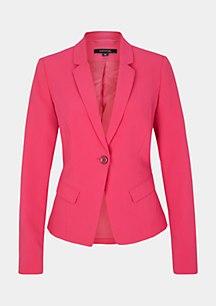 Elegant crêpe blazer embellished with flounces from comma
