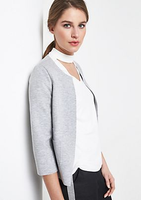 Jersey blazer with 3/4-length sleeves from comma