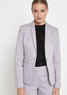 Business blazer with a fine micro pattern from comma