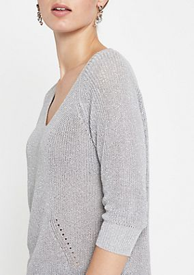 Sparkly knit jumper with 3/4-length sleeves from comma