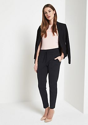 Casual lounge trousers with wonderful details from comma