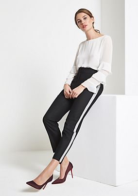 Casual trousers with ruffle embellishment from comma