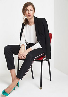 Elegant business trousers with a stripe pattern down the sides from comma